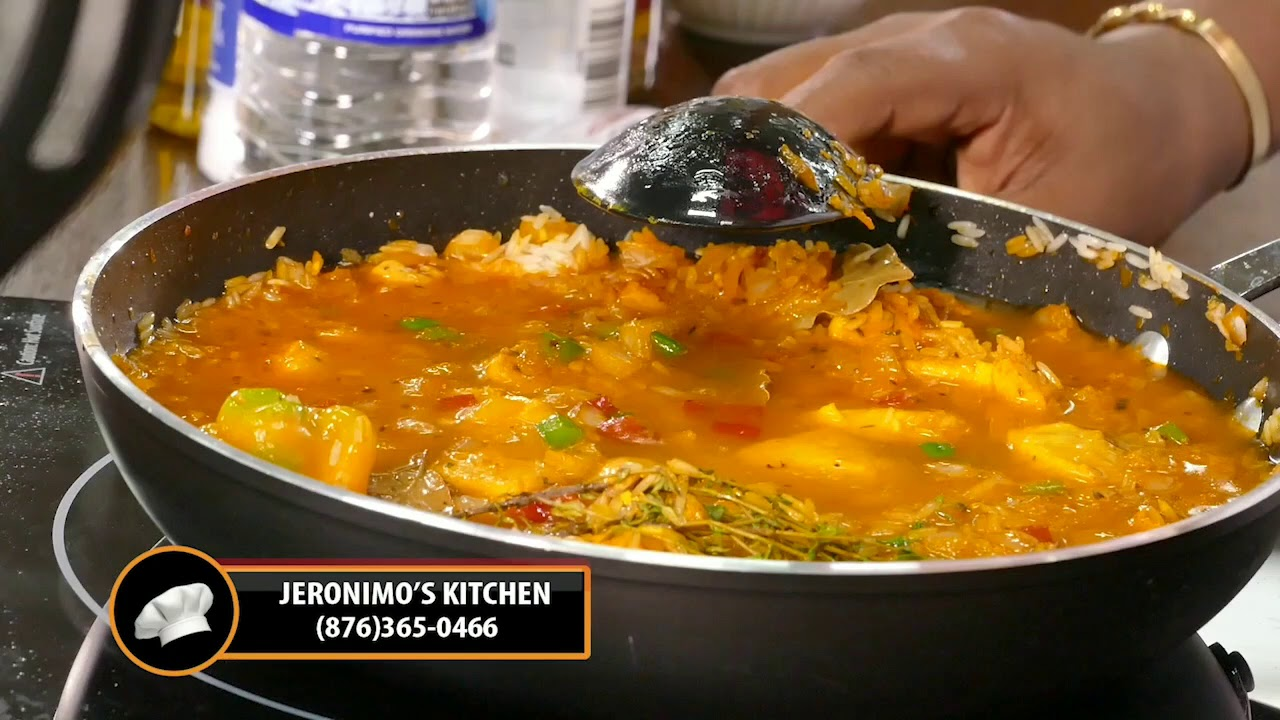 jamaican seasoned rice paella jeronimos kitchen the