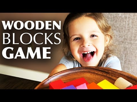 ⭐ DIY Activities for Kids - Creative Game with Wooden Blocks