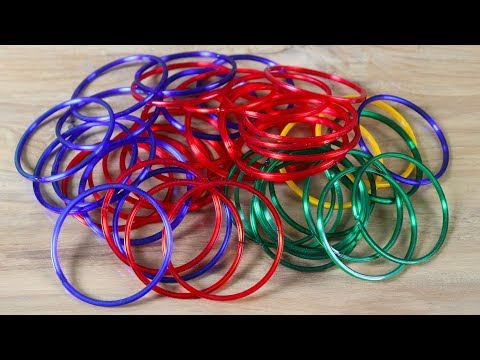 💗Best Out Of Waste Bangles 🎸 Diy Arts and Craft Ideas ⭐ Waste Material craft 💜