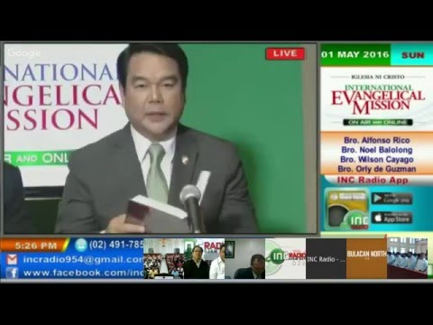 IEVM On Air & Online  Central Luzon East    May 1, 2016