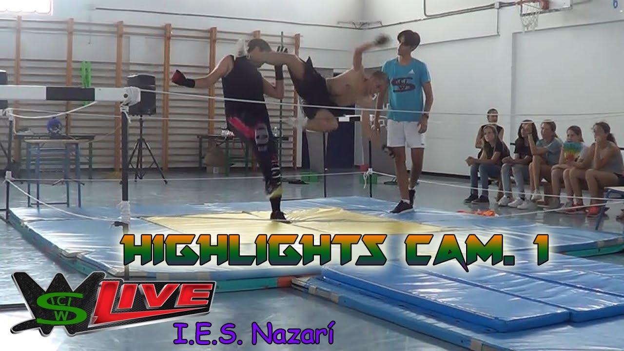 swc live i e s nazarí highlights cámara 1 backyard wrestling