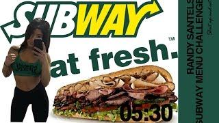 Randy Santel, £20 Subway Menu Challenge