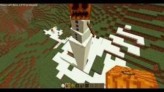 minecraft create snowman