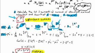 Moment Generating Function #5 Normal Distribution