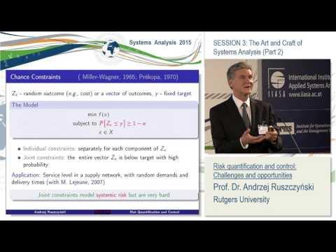 Session 3. Andrzej Ruszczyński: Risk quantification and control