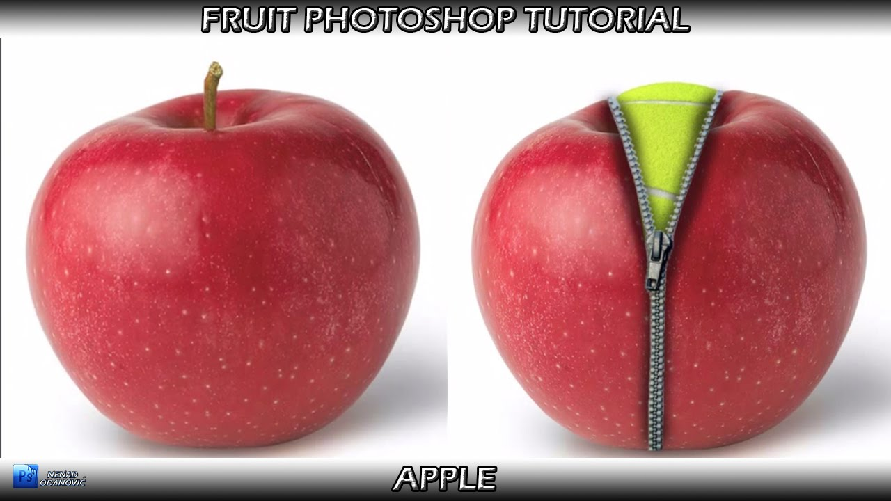 Fruit Photoshop Tutorial Apple