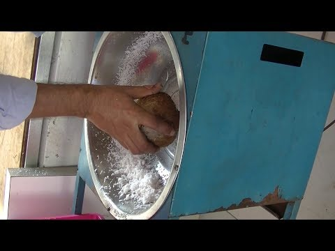 Making Grated Coconut from a Coconut, Aug 2016