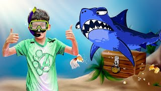 Jason Helps the Sharks for an Ocean CleanUp