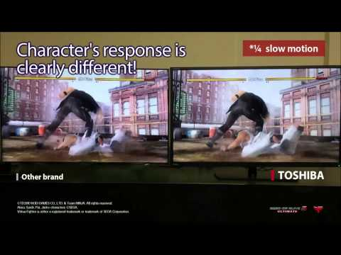 TOSHIBA TV vs Other brand's TV Low latency for gaming!