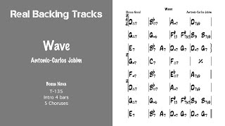 Wave - Real Jazz Backing Track - Play Along