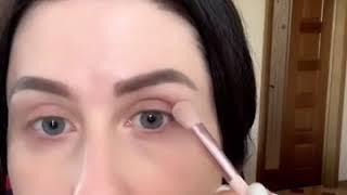 Макияж глаз кофе со сливками