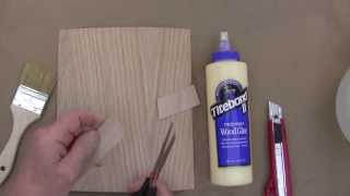 Gluing Wood Veneers With Carpenter's Glue At Veneer-Factory-Outlet.com