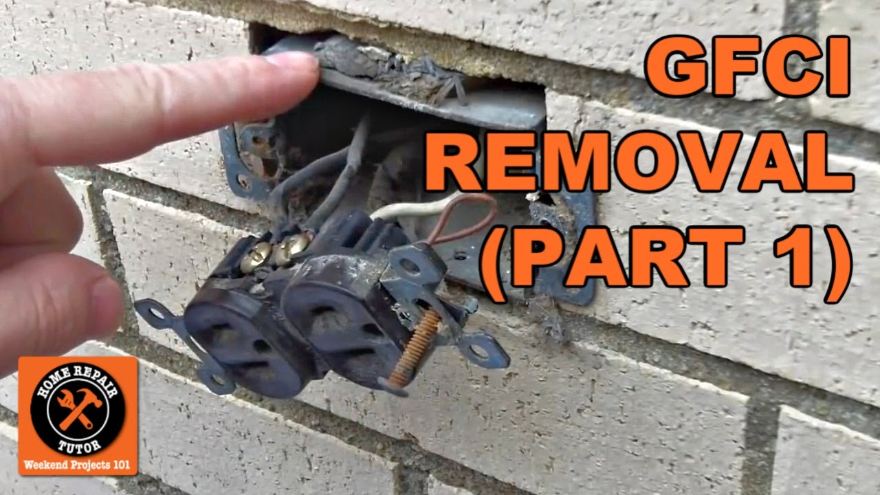 Gfci Outdoor Electrical Outlet Installation Part 1 By Home Repair Wiring A Tutor Youtube