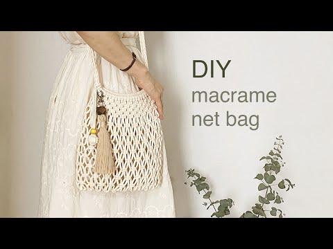 DIY TUTORIAL macrame net bag cross bag | 마크라메 네트 백 크로스 백