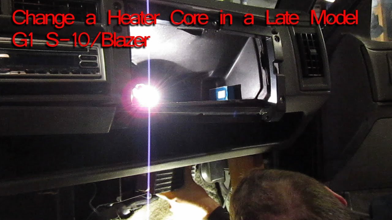 How to Change A Heater Core on a 1994    Chevy       S10     Blazer  GMC Jimmy  Oldsmobile Bravada  YouTube