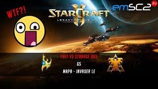 WTF?! Polt vs Strange -g5- Starcraft 2 HD Polski komentarz