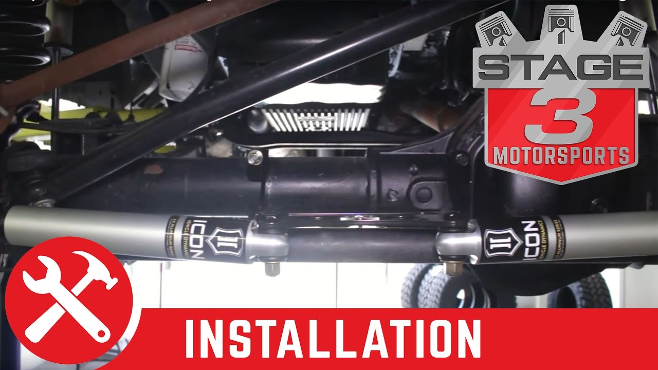 2005-2015 Super Duty F-250 F-350 4WD ICON Dual Steering Stabilizer Install