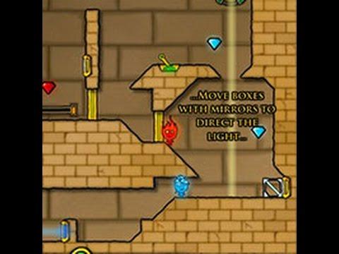 Прохождение игры Огонь и Вода 2 по всем уровням: Храм Света