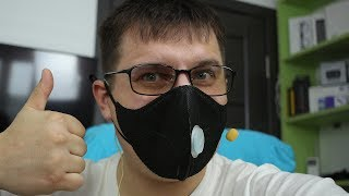 😷 Маска Xiaomi Mijia Airpop от дыма и пыли PM2.5 / РАСПАКОВКИ 🚑