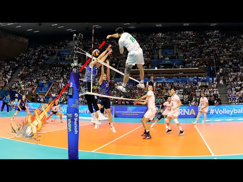 Powerful Attacks Over The Line | Best Volleyball Spikes (HD)