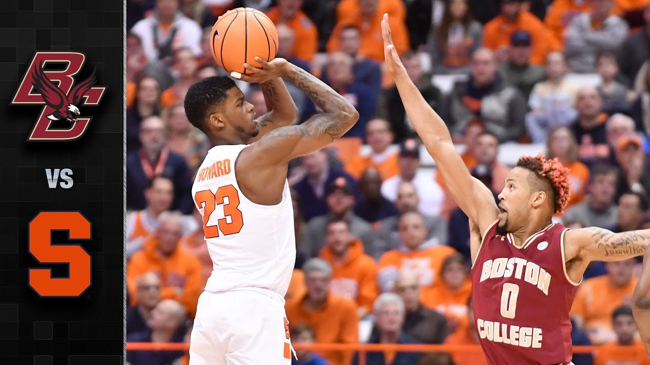 Boston College Vs Syracuse Basketball Highlights 2017 18 Youtube