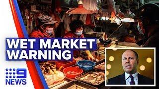 Coronavirus: Australian urges China wet markets shutdown | Nine News Australia
