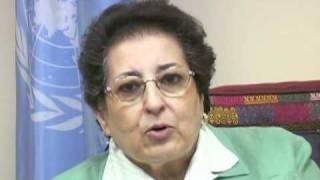 Thoraya Ahmed Obaid, Executive Director of UNFPA addressing Y-PEER Network
