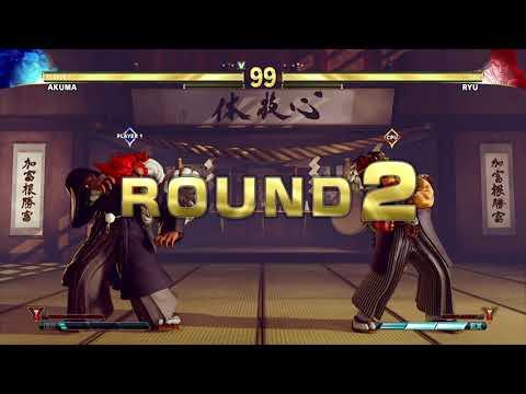 STREET FIGHTER V Akuma vs Ryu