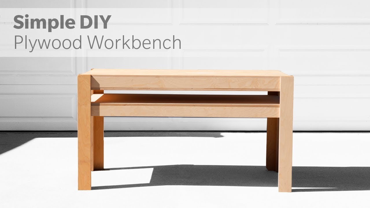 How To Build A DIY Workbench Out Of Plywood - Woodworking - YouTube