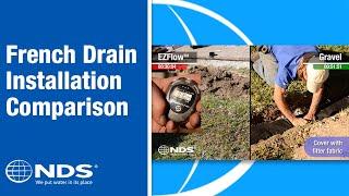 French drain installation comparison: Ezflow, a gravel free drainage solution