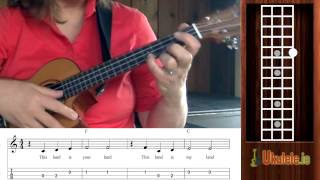 How to Read Ukulele Tabs for This Land is Your Land - 21 Songs in 6 Days