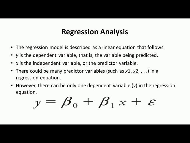 Regression Analysis - Big Data Analytics Tutorial by Mahesh Huddar