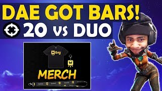 20 KILL VS DUO | DAEQUAN GOT BARS | MERCH IS HERE! |HIGH KILL FUNNY GAME-(Fortnite Battle Royale)
