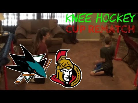 KNEE HOCKEY...CUP REMATCH - SHARKS VS SENATORS - Low Family Productions