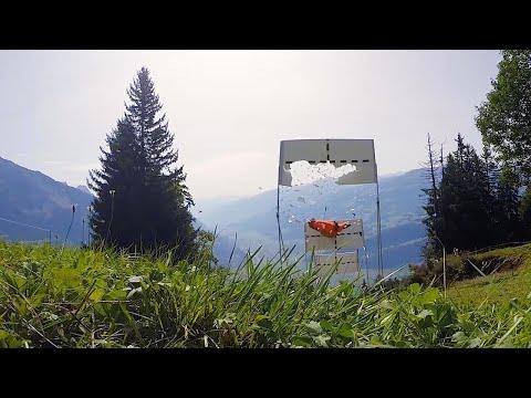 World's First Triple Target Base Jump