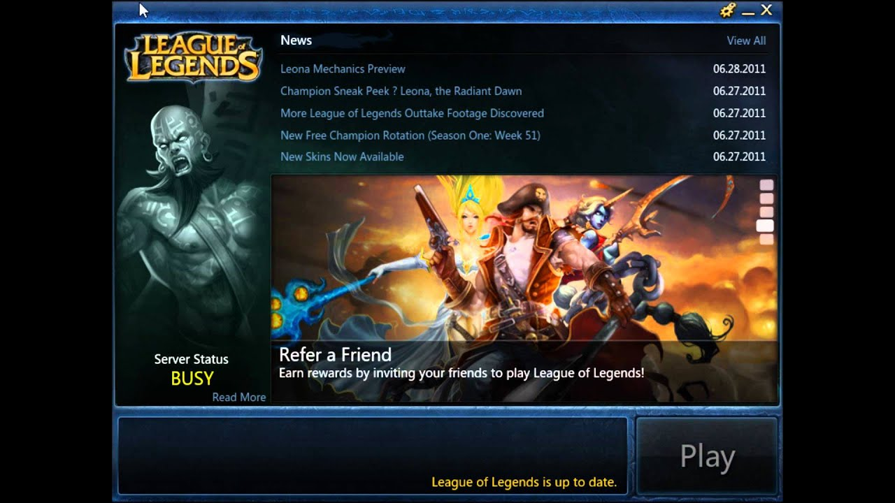 League Of Legends-Server busy