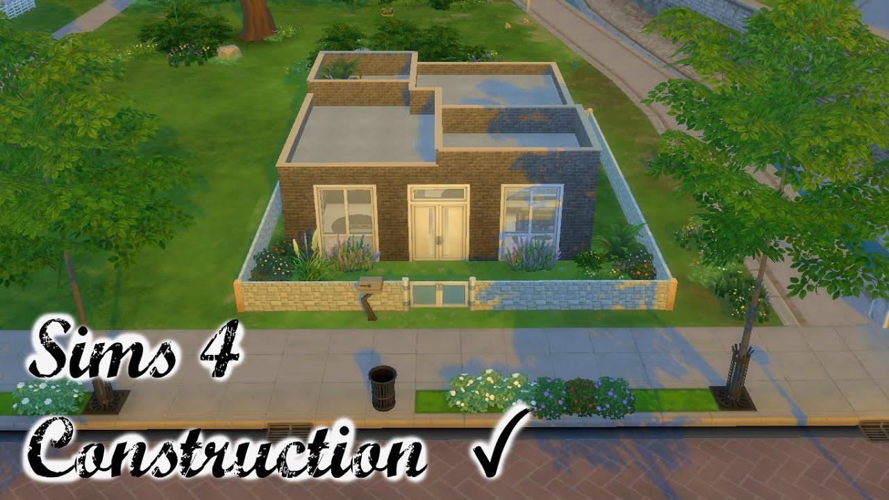 maison avec sous sol ouvert construction sims 4 sims game youtube. Black Bedroom Furniture Sets. Home Design Ideas