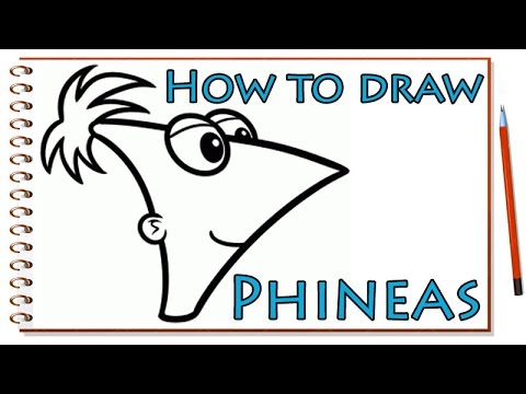 How To Draw Phineas Character From Phineas And Ferb Cartoon Hd Arts Youtube