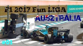 FUNRACE VB VELETEK! // F1 2017 // TELJES AUSZTRÁL HÉTVÉGE (100%)