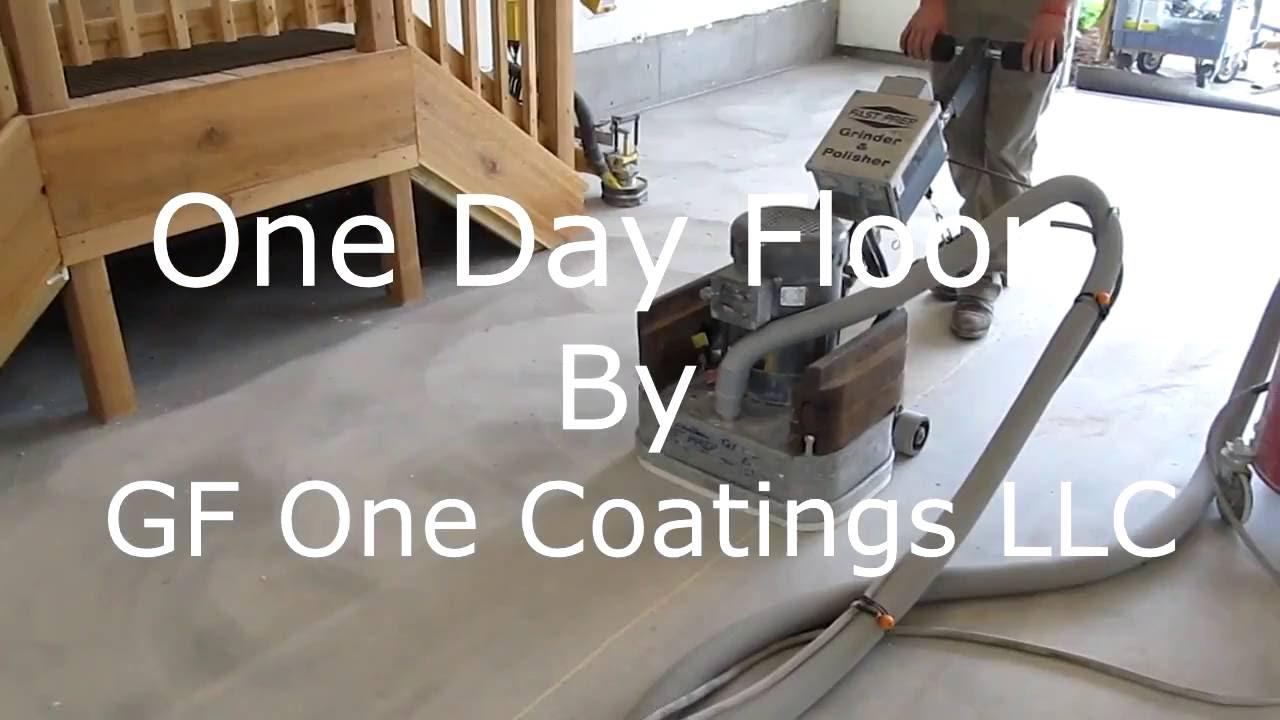 Gf One Coatings Day Garage Floor Installation