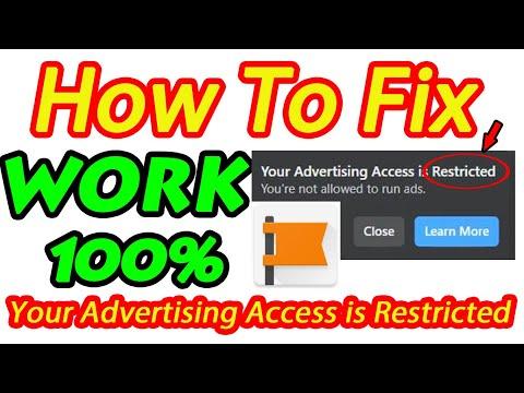 របៀប Fix Your Advertising Access is Restricted | How to fix ads account restrict in Facebook Page