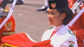 Download Video Sosok Tarrisa Maharani Dewi, Paskibra Pembawa Baki Bendera Merah Putih di Istana Merdeka MP3 3GP MP4