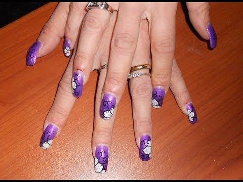 Nails Art In Gel Uv Tutorial Semplici E Carine Youtube