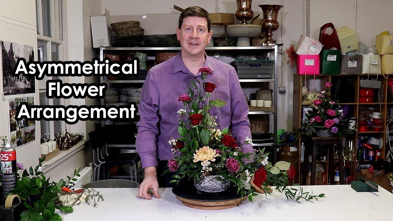 How To Make An Asymmetrical Flower Arrangement Youtube