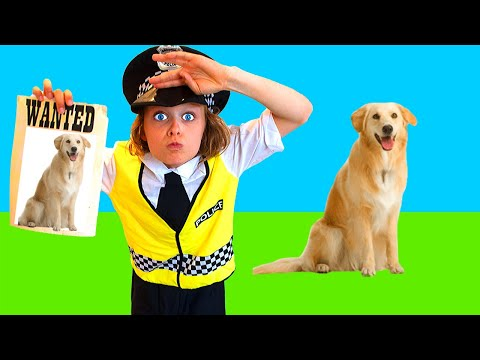 LOST DOG FOR BIGGY THE POLICEMAN Pretend Play w/ The Norris Nuts