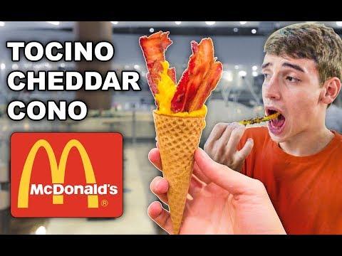 PIDIENDO COMIDAS RARAS en McDonalds EP 3 Comidas rapidas