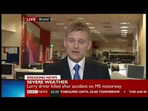 BBC NEWS CHANNEL - CHRIS JAMES - M5 Fatal Lorry accident ...