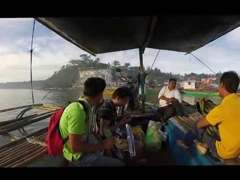 Boat dock and  boat ride from Bolinao to Santiago Island