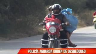 POLICÍA AGUARDA ORDEN DE DESBLOQUEO