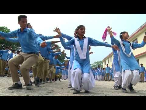 2017 LATEST PAHARI DANCE ON GARHWALI SONG BEATS BY STUDENTS OF GOVT. SCHOOL, KISHANPUR